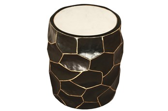 Gilded Midnight Faceted Table