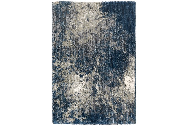 """3'8""""x5'4"""" Rug-Asher Abstract Shag Blue - 360"""