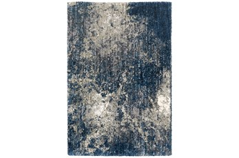 79X114 Rug-Asher Abstract Shag Blue