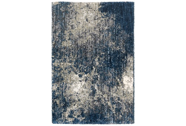 "6'6""x9'5"" Rug-Asher Abstract Shag Blue - 360"