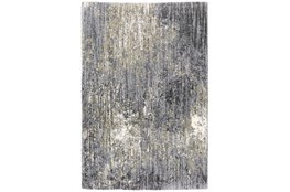 "3'8""x5'4"" Rug-Asher Abstract Shag Grey"