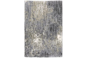 94X130 Rug-Asher Abstract Shag Grey