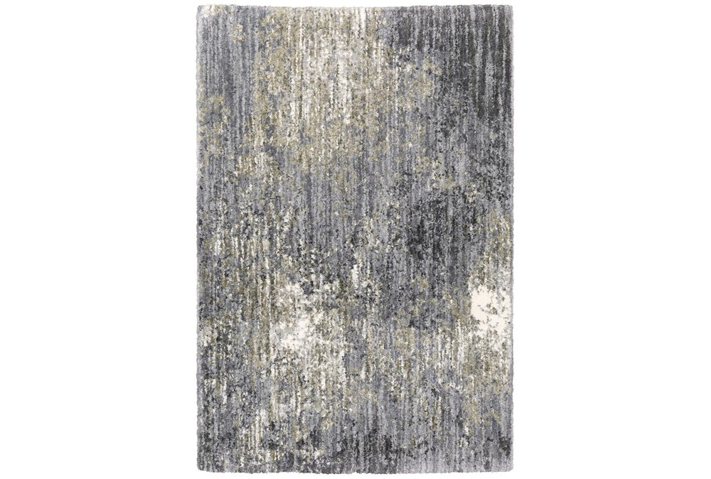 118X154 Rug-Asher Abstract Shag Grey