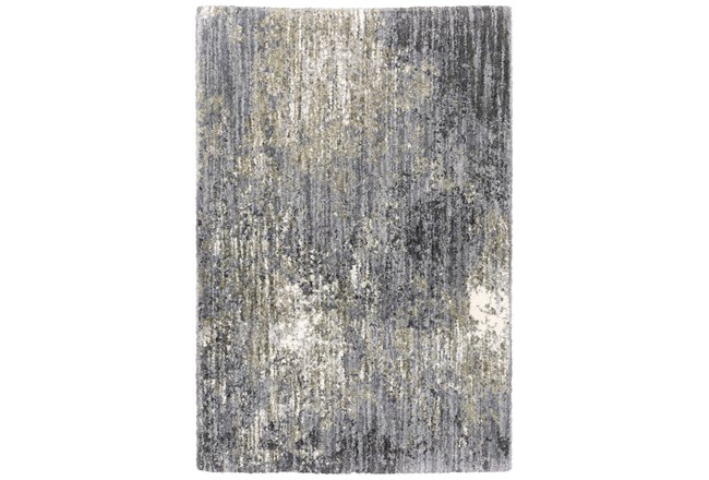 118X154 Rug-Asher Abstract Shag Grey - 360