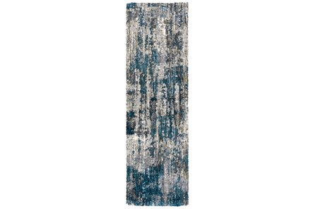 27X91 Runner Rug-Asher Distressed Shag Grey - Main
