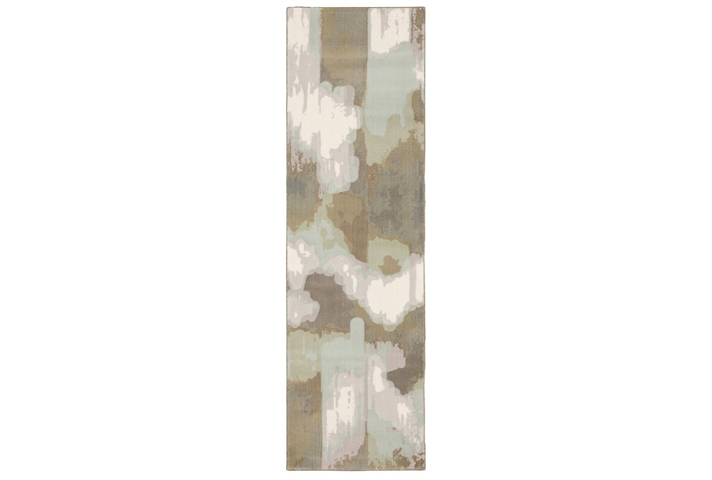 "2'3""x7'6"" Runner Rug-Carlton Contemporary Abstract Ivory"