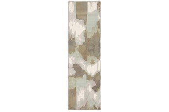 """2'3""""x7'6"""" Runner Rug-Carlton Contemporary Abstract Ivory"""