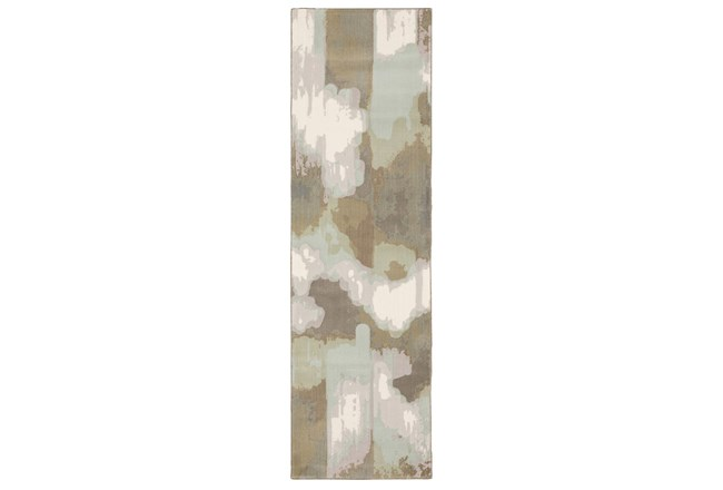 "2'3""x7'6"" Runner Rug-Carlton Contemporary Abstract Ivory - 360"