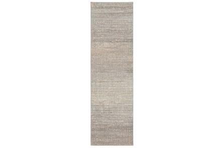 27X91 Runner Rug-Carlton Abstract Distressed Grey - Main