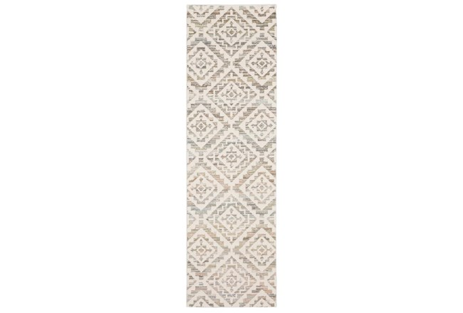 "2'3""x7'6"" Runner Rug-Carlton Geometric Distressed Ivory - 360"
