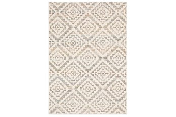 63X91 Rug-Carlton Geometric Distressed Ivory