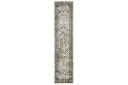 22X91 Runner Rug-Greyson Border Diamonds Ivory