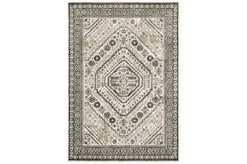 118X154 Rug-Greyson Border Diamonds Ivory