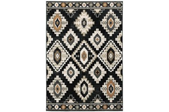 94X120 Rug-Greyson Southwest Diamonds Charcoal