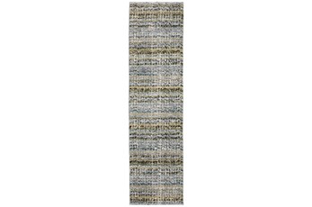 "2'2""x8'3"" Runner Rug-Axel Abstract Stripe Blue"