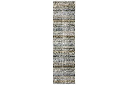 26X100 Runner Rug-Axel Abstract Stripe Blue - Main