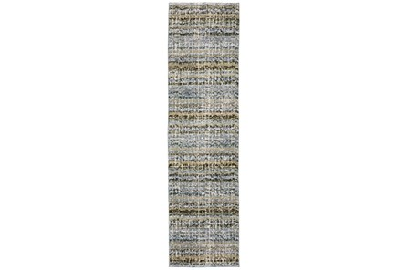 30X144 Runner Rug-Axel Abstract Stripe Blue - Main