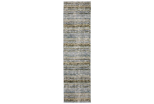 30X144 Runner Rug-Axel Abstract Stripe Blue - 360