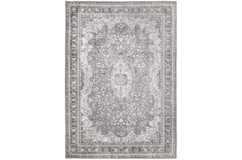 100X138 Rug-Scarlett Border Medallion Grey