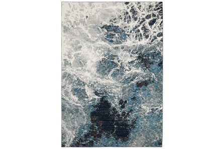 26X100 Runner Rug-Easton Abstract Space Blue - Main