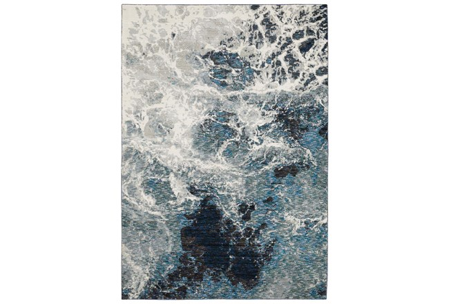 26X100 Runner Rug-Easton Abstract Space Blue - 360