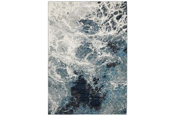 79X118 Rug-Easton Abstract Space Blue