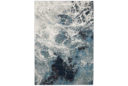 30X144 Runner Rug-Easton Abstract Space Blue - Main