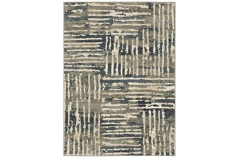 27X91 Runner Rug-Capri Abstract Stripes Beige