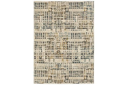 27X91 Runner Rug-Capri Abstract Geometric Blue - Main
