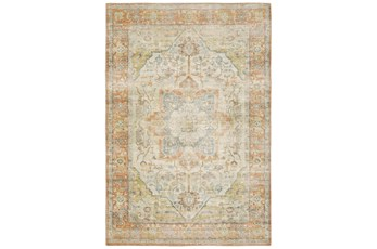63X87 Rug-Syrah Abstract Medallion Orange