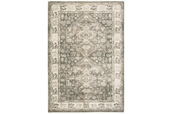 24X96 Runner Rug-Syrah Oriental Distressed Charcoal