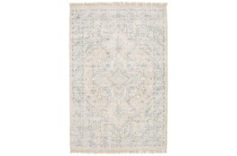 5'x8' Rug-Macon Border Medallion Beige