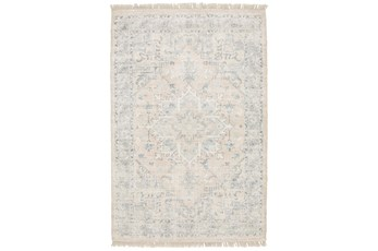 96X120 Rug-Macon Border Medallion Beige