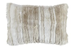 Accent Pillow-Faux Fur Tan Cream 23X16