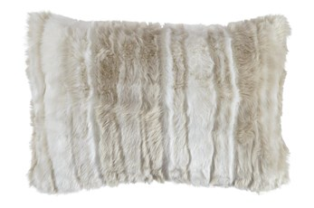 Accent Pillow-Faux Fur Tan Cream 23X16
