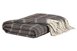 Accent Throw-Woven Black/Beige