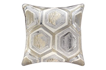Accent Pillow-Hexagon Foil Multi 20X20