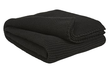 Accent Throw-Ribbed Cotton Black
