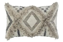 Accent Pillow-Diamond Design Natural/Black 22X14