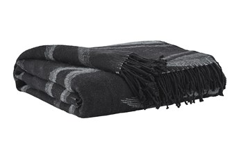 Accent Throw-Woven Tribal Design Black/Gray