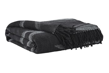 Accent Throw-Woven Tribal Design Black/Gray