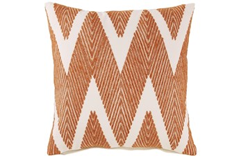 Accent Pillow-Chevron Chain Stitch Orange 20X20