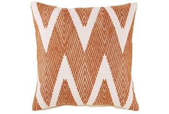 Accent Pillow-Chevron Chain Stitch Orange 20X20