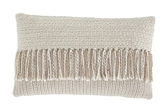 Accent Pillow-Tassel Accent Cream/Tan 20X12