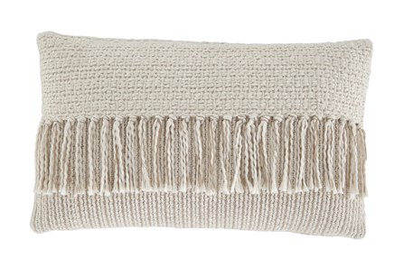 Accent Pillow-Tassel Accent Cream/Tan 20X12 - Main