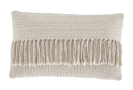 Accent Pillow-Tassel Accent Cream/Tan 20X12 - Main