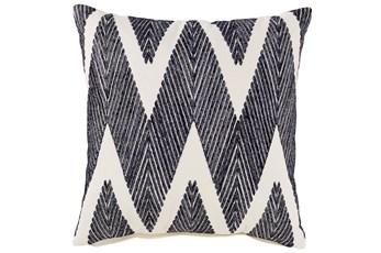 Accent Pillow-Chevron Chain Stitch Black 20X20