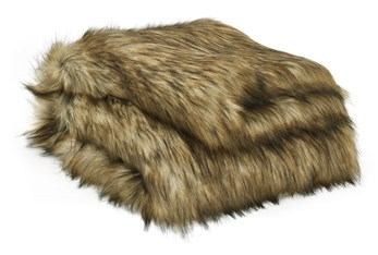 Accent Throw-Woven Faux Fur Brown/Black
