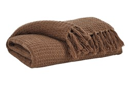 Accent Throw-Woven Waffle Brown