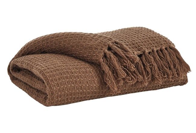 Accent Throw-Woven Waffle Brown - 360